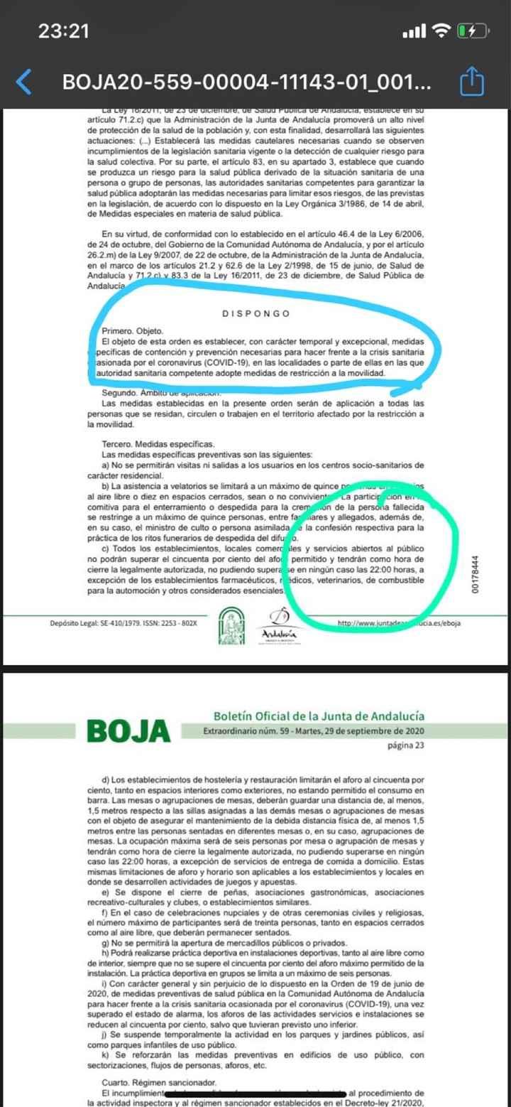 Las nuevas medidas de las juntas de Andalucia - 1