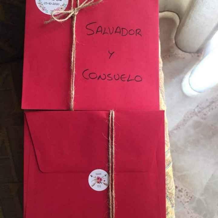 Han llegado mis invitaciones de bodaaaa y el libro de firmas!!! Qué os parecen?? - 1