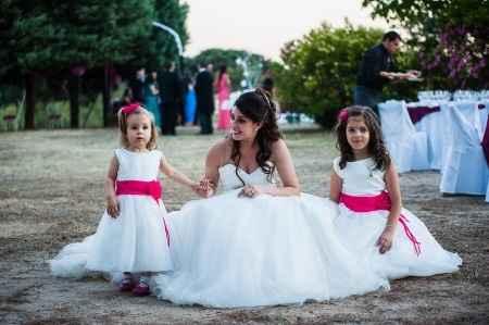 Con mis dos princesas