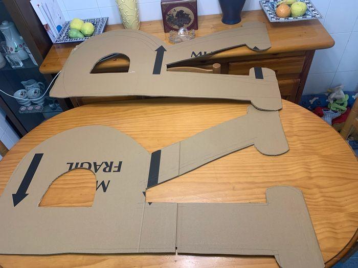 Mis letras gigantes en proceso 1