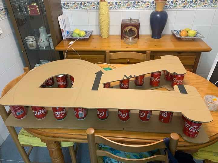 Mis letras gigantes en proceso - 2