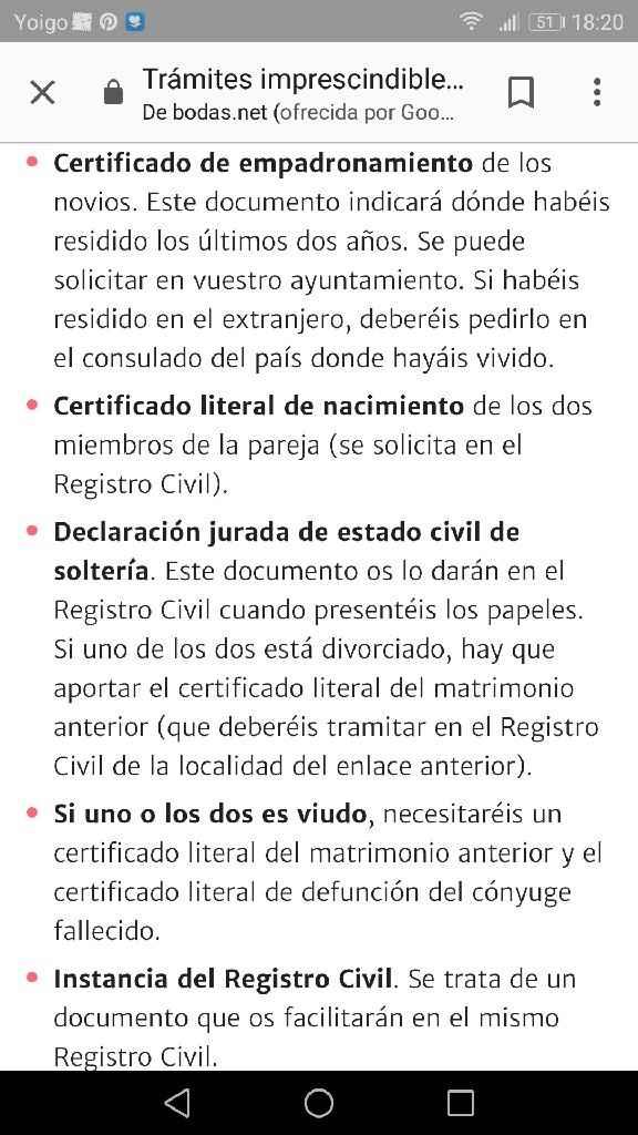 Papeles para el matrimonio civil Asturias - 1