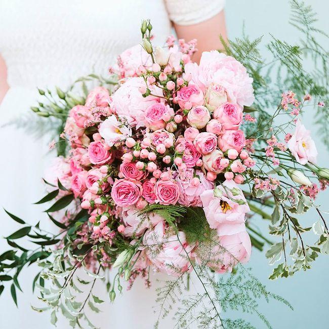 ¿Llevarías un ramo de novia solo de color rosa? 😍 2
