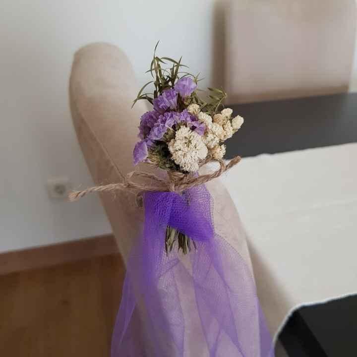 Mi decoración para la sillas de la ceremonia - 2