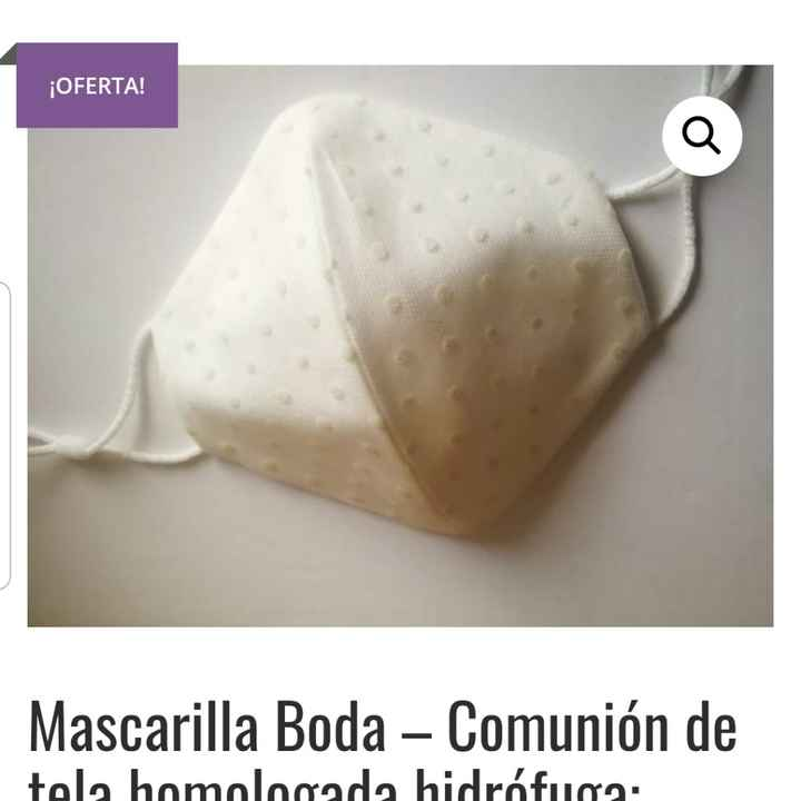Mascarilla novia - 1