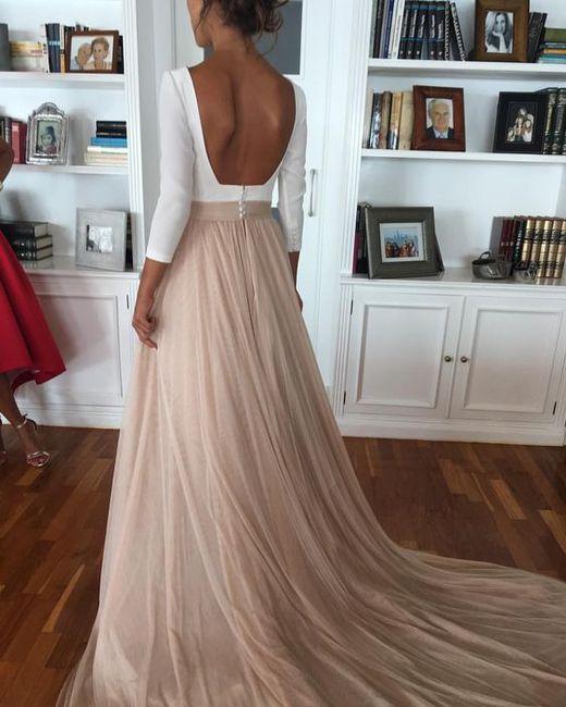 vestidos de novia con falda de tul ¡de color! - moda nupcial