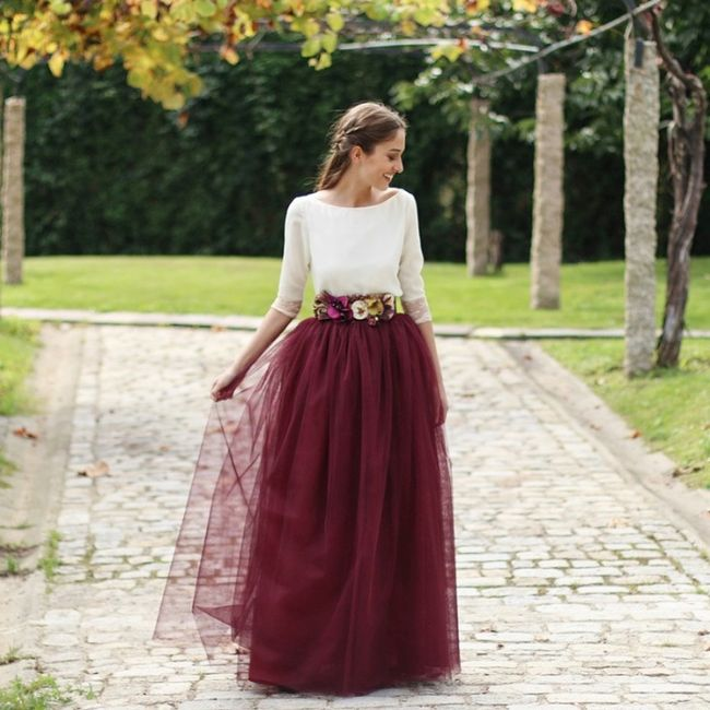 7a17f7133 Vestidos de novia con falda de tul... ¡de color! - Moda nupcial ...
