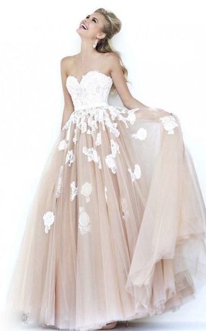 Vestidos de novia con falda de tul... ¡de color! 4