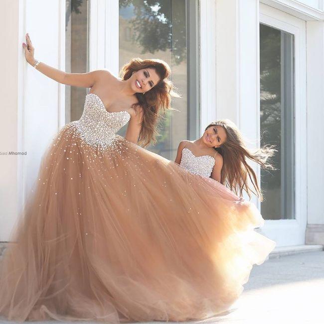 Vestidos de novia con falda de tul... ¡de color! 7