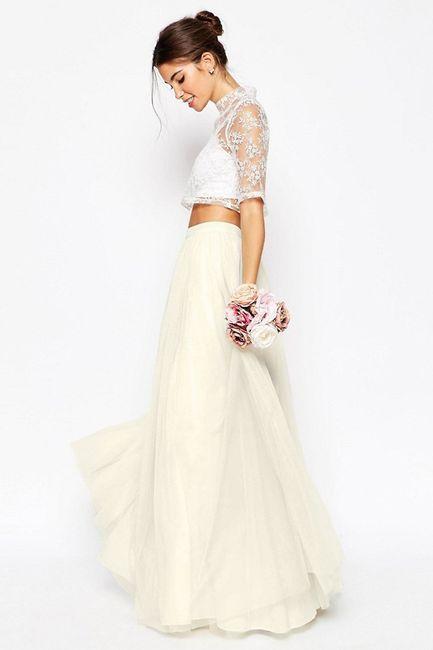 Vestidos de novia con falda de tul... ¡de color! 6