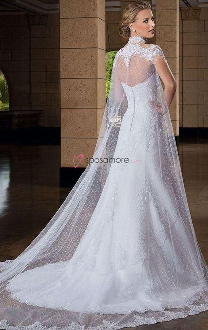 Colas desmontables para vestidos de novia