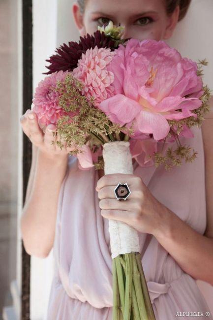 cómo combinar vestido y ramo - moda nupcial - foro bodas