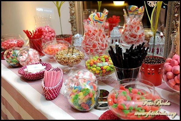 Como hacer un candy bar casero p gina 2 manualidades for Fotos de mesas de chuches para bodas