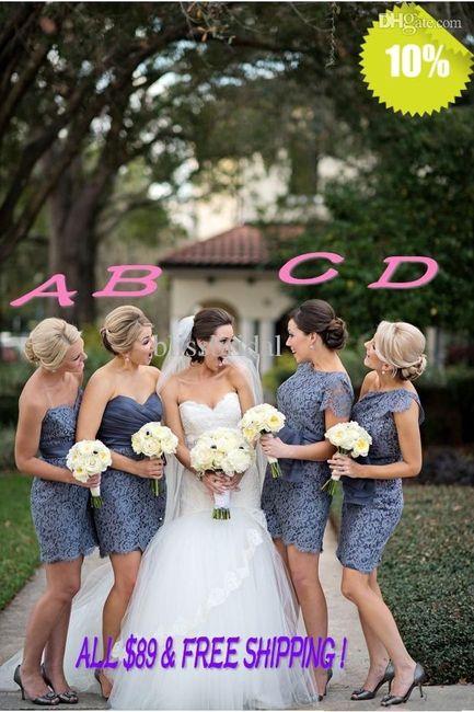 5b79abef7b Los vestidos de las damas de honor - Moda nupcial - Foro Bodas.net