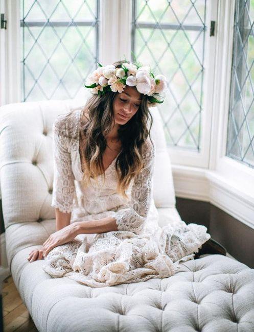 Peinados novia segun vestido