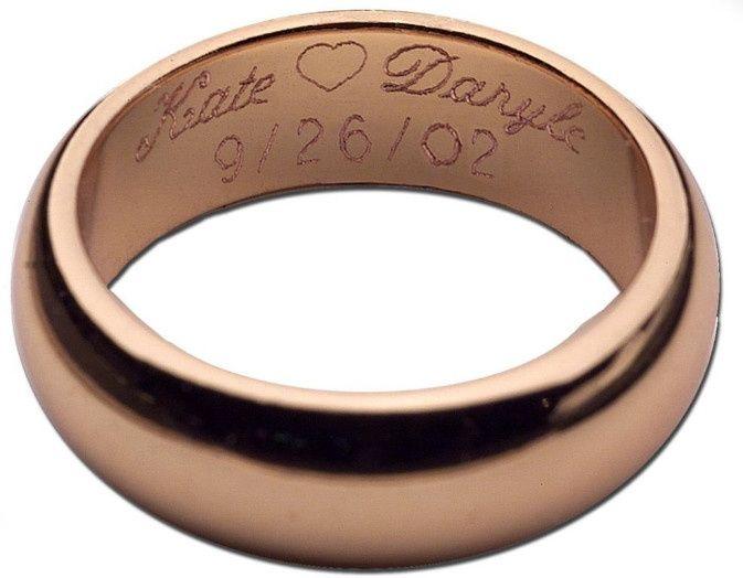 Grabados en anillos de compromiso