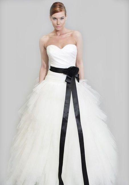 estilo clásico detalles para la venta de zapatos Vestidos de novia blanco y negro - Moda nupcial - Foro Bodas.net
