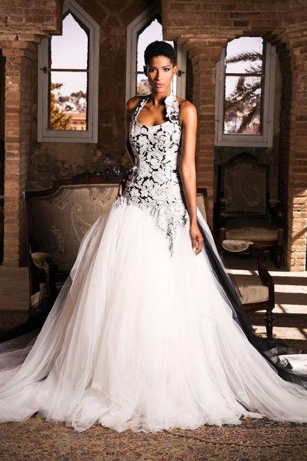 vestidos de novia blanco y negro - moda nupcial - foro bodas
