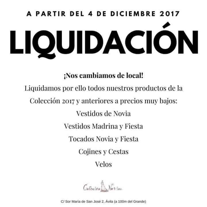 Liquidación tienda novia - 1