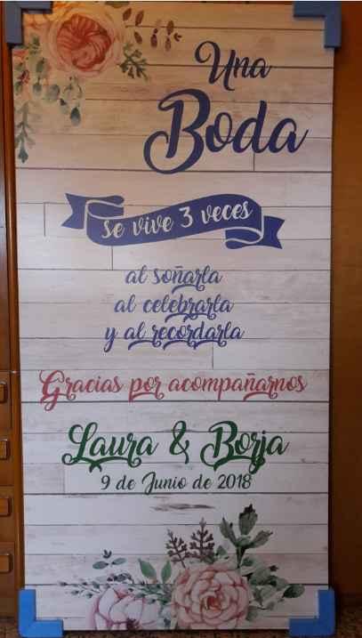 Cartel Bienvenida Boda