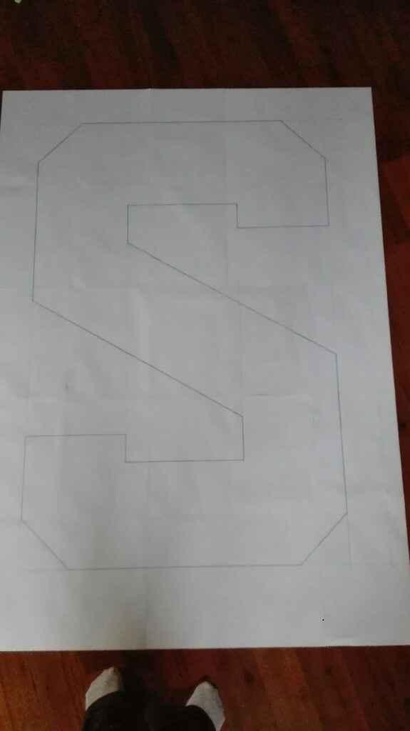 Como hacer boceto para letras de madera - 1