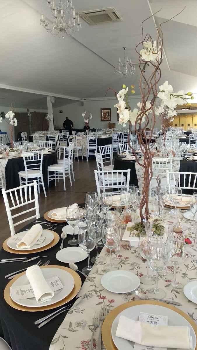 Decoración mesas banquete
