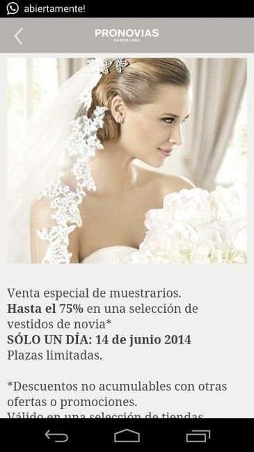 0d78713ad Vestidos novia en outlet pronovias  - Página 19 - Moda nupcial ...