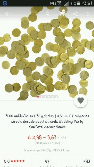 Confeti dorado - 3