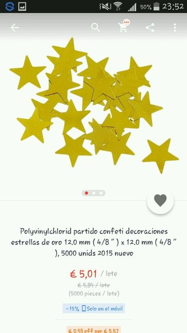 Confeti dorado - 5
