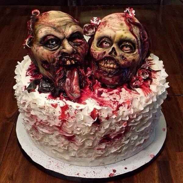 tarta de boda zombie