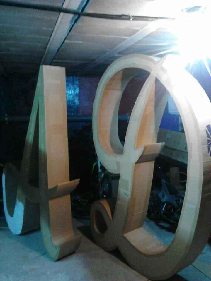 Letras bodaxxxxl dos metros acen - 1