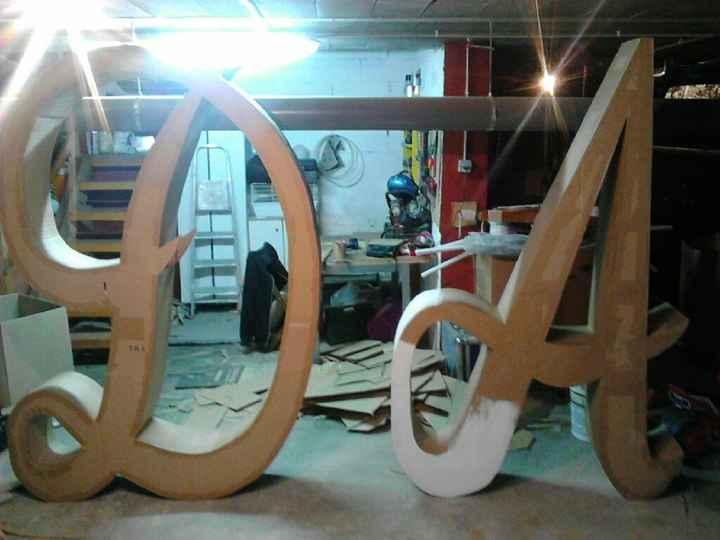 Letras bodaxxxxl dos metros acen - 2