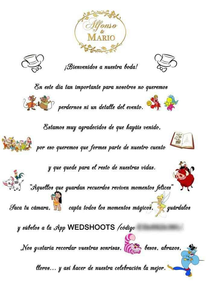 """Cartel de """"bienvenida"""" - 1"""