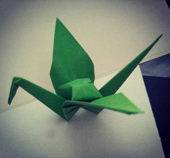 Rosas origami centro ramo - 1