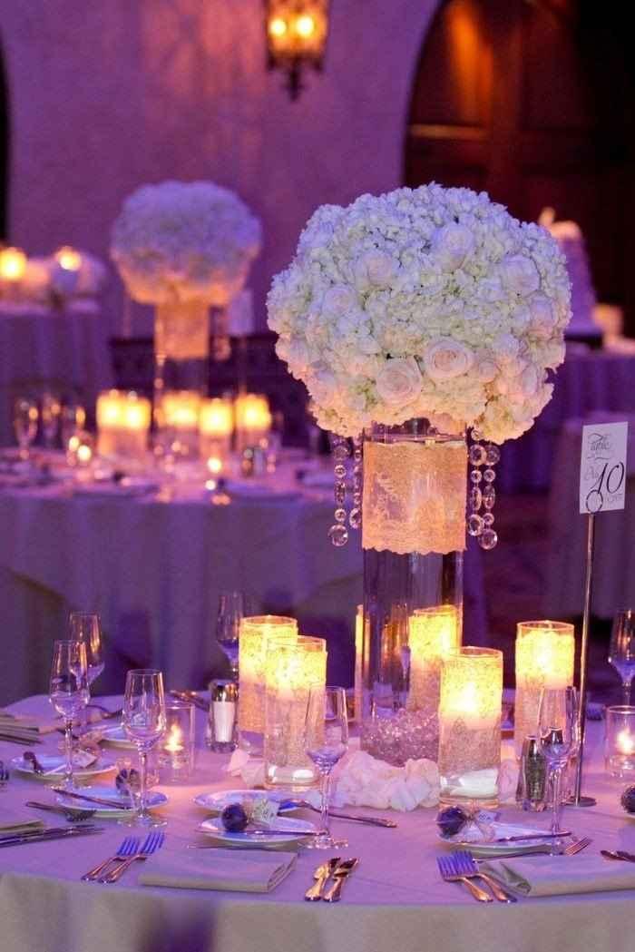 8. Velas y flores