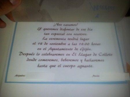 Mis invitaciones caseras  - 2