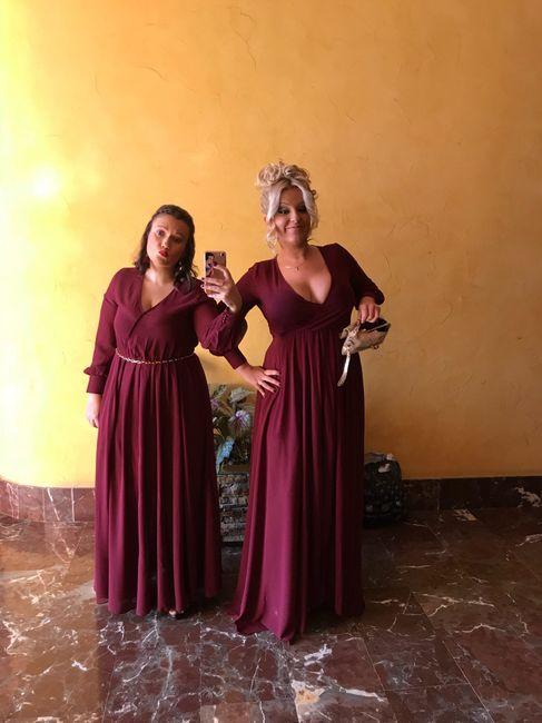Vestidos damas de honor burdeos