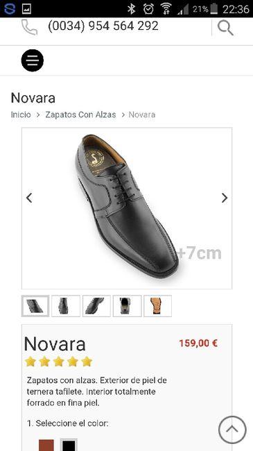 Zapatos con alza novio - 1