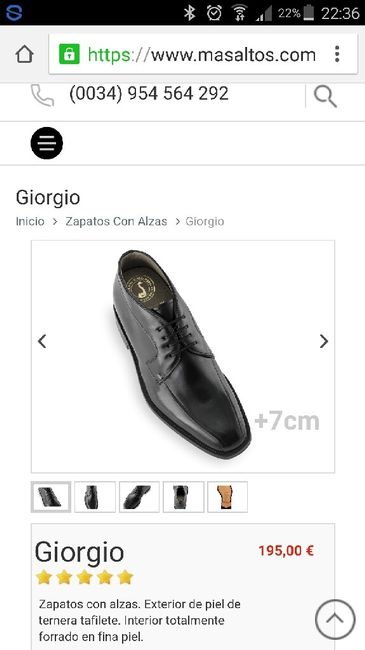 Zapatos con alza novio - 2
