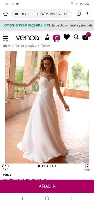Vestido de  novia económico y bonito 2