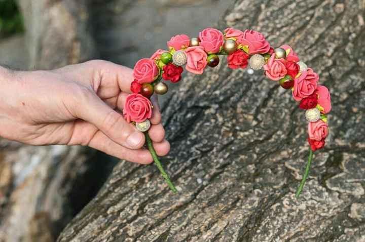 Corona flores naturales - 3