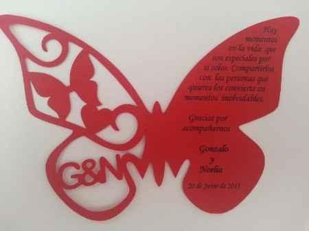 Gran pedido mariposas de agradecimiento - 1