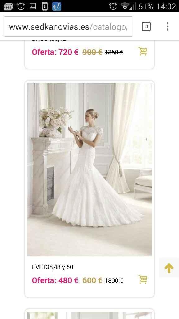 Busco este tipo de vestido pero oulet - 1
