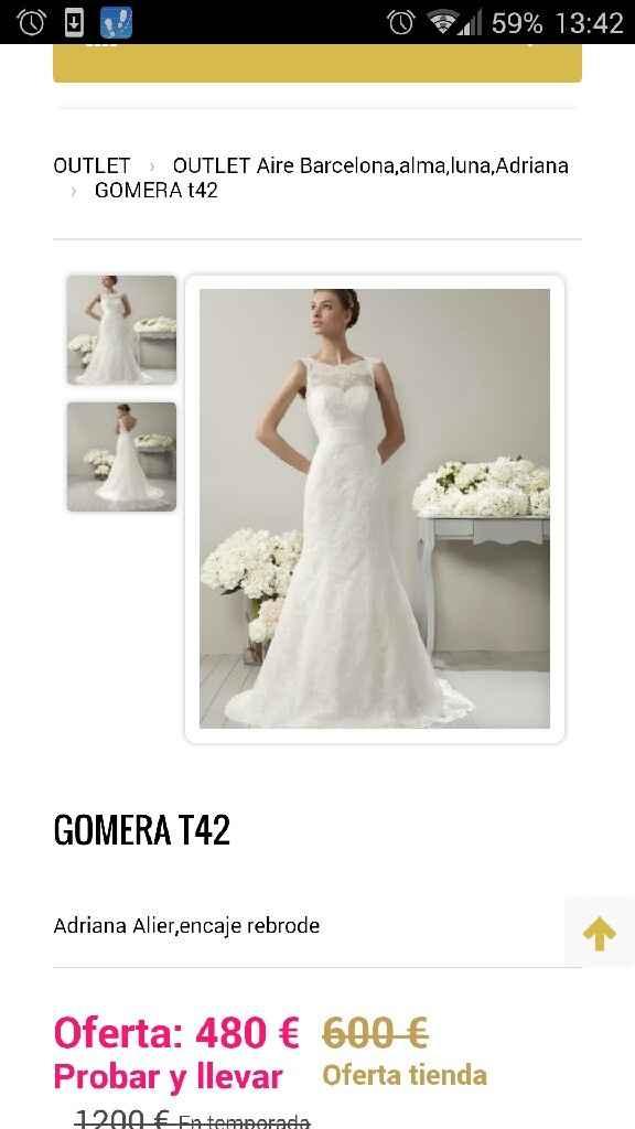 Busco este tipo de vestido pero oulet - 7