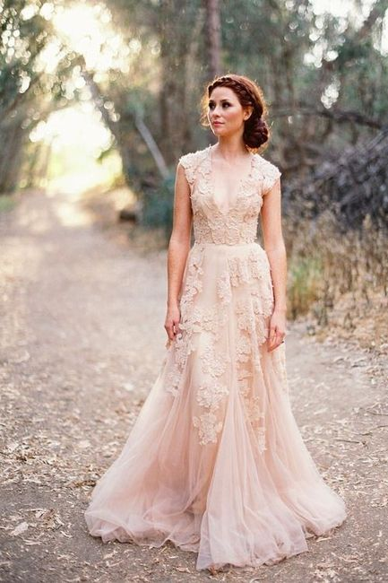 9ae4216b6 Vestidos de novia en tonos rosas. - Moda nupcial - Foro Bodas.net