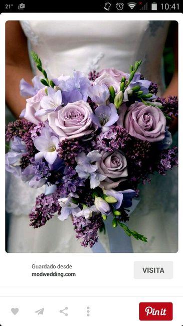 60 ramos de novia en lila, morado, púrpura y violeta! - 1