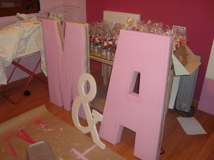 Letras gigantes y muy f ciles manualidades foro - Letras de corcho decoradas ...