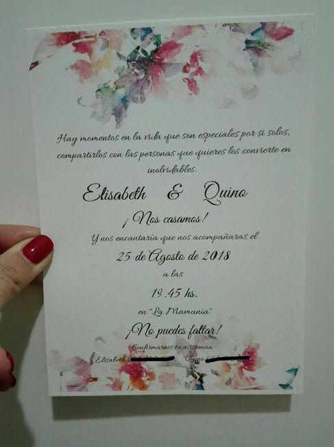 Ya tenemos Invitaciones 👏 - 1