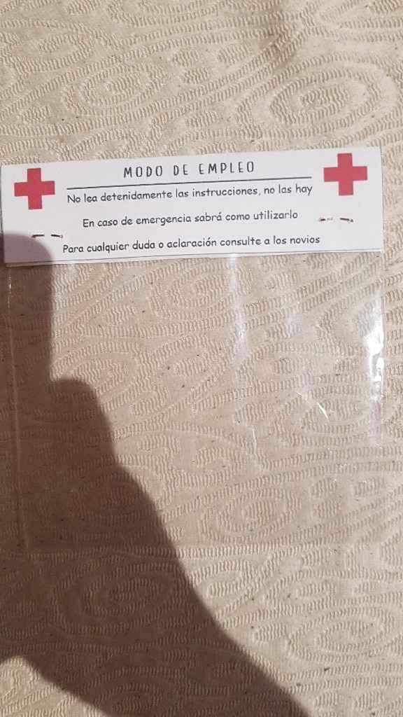 Etiqueta del kit de supervivencia - 2