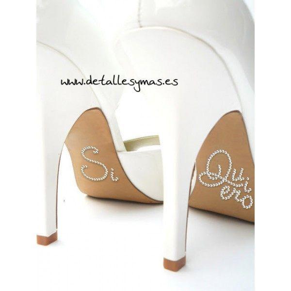 """pegatina zapato novia """"si quiero"""" - moda nupcial - foro bodas"""